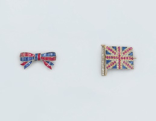 A diamond and gem Union Jack b