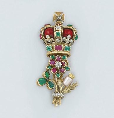 A George IV gold, diamond, gem
