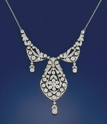 A Belle Epoque diamond necklac