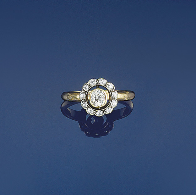 An Edwardian diamond cluster r