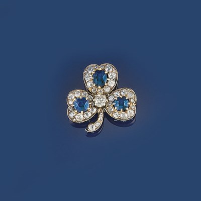 A Victorian sapphire and diamo