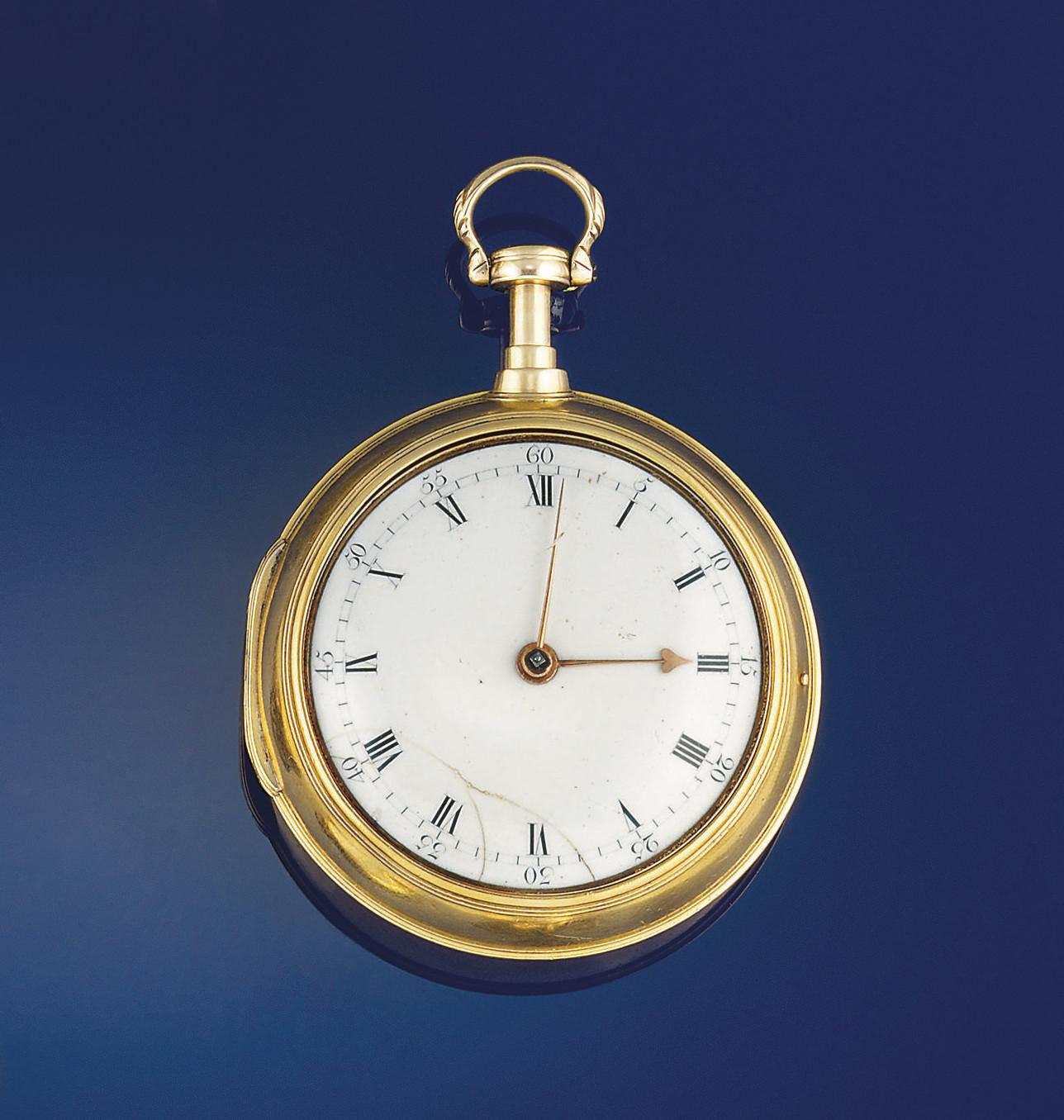 A late 18th century gold repea