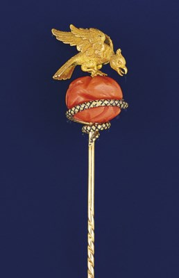 An Early Victorian gold coral,