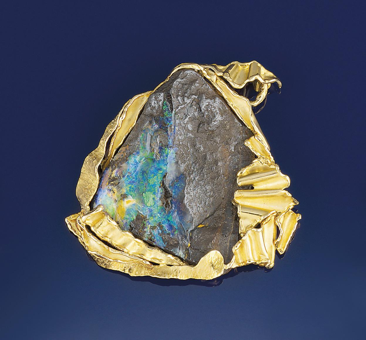 An opal pendant, by Julia Plan