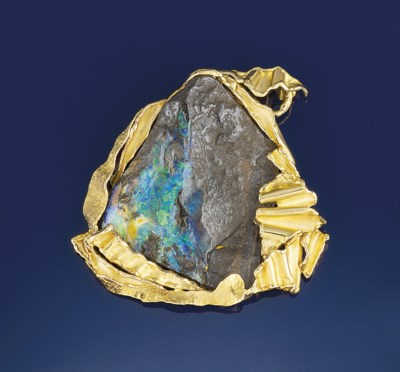 An opal pendant, by Julia Plan