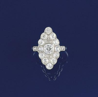 A late 19th century diamond cl