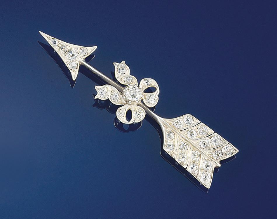 A late Victorian diamond arrow