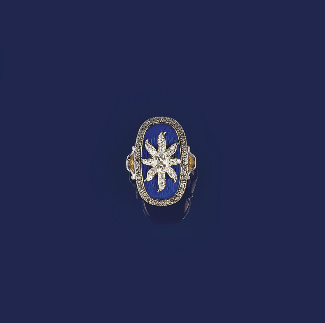 A 19th century diamond and ena