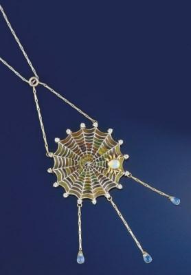 An enamel, diamond opal and mo