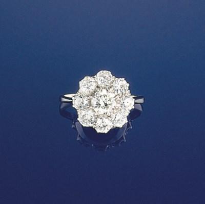An old brilliant-cut diamond c