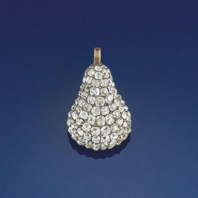 A Georgian diamond pendant