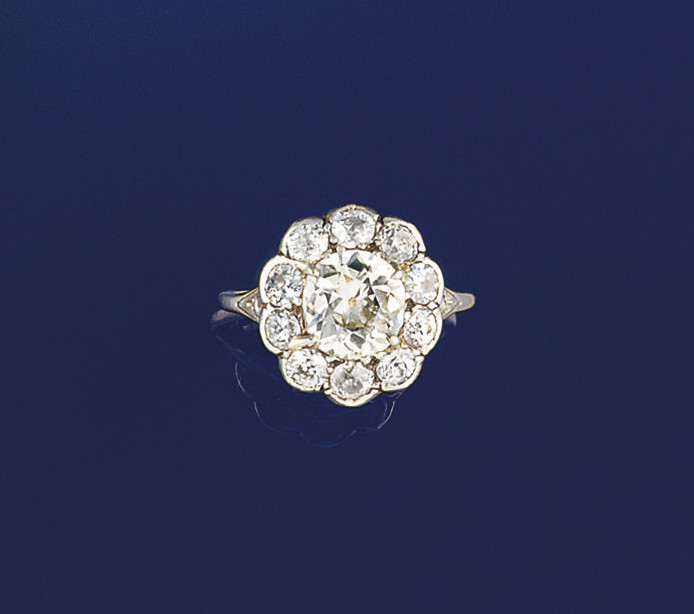 A late 19th century diamond cl