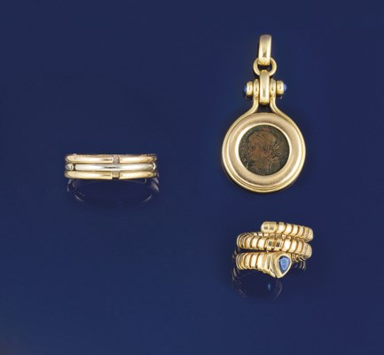 Two rings, by Bulgari and a pe