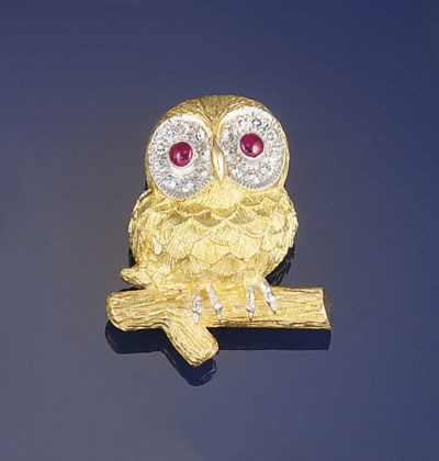 An 18ct gold, diamond and ruby