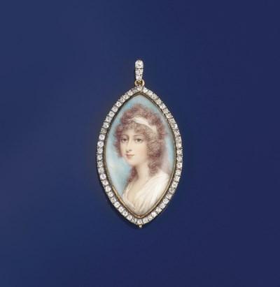 A late 18th century portrait m