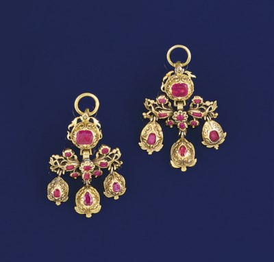 A pair of 18th century gold an