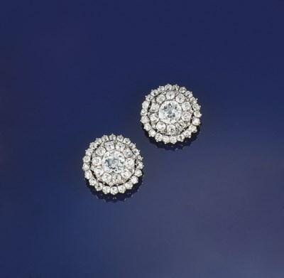 A pair of Georgian diamond bro