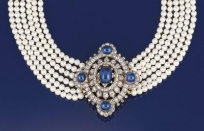 A 19th century sapphire and di