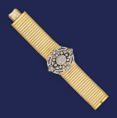 A Victorian gold and diamond b