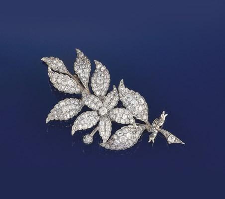 A late Victorian diamond clust