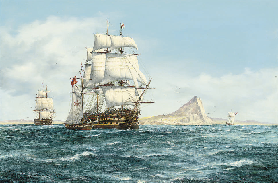 H.M.S. Victory off Gibraltar