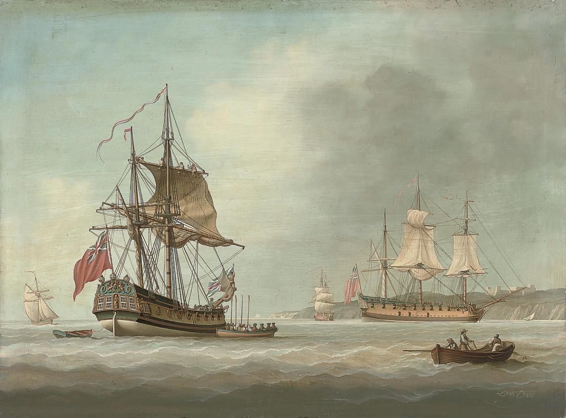 Men-o'war at their anchorage