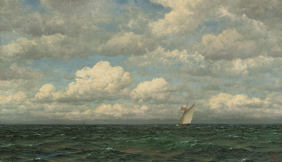 Yachts on the open sea; and Crossing the horizon