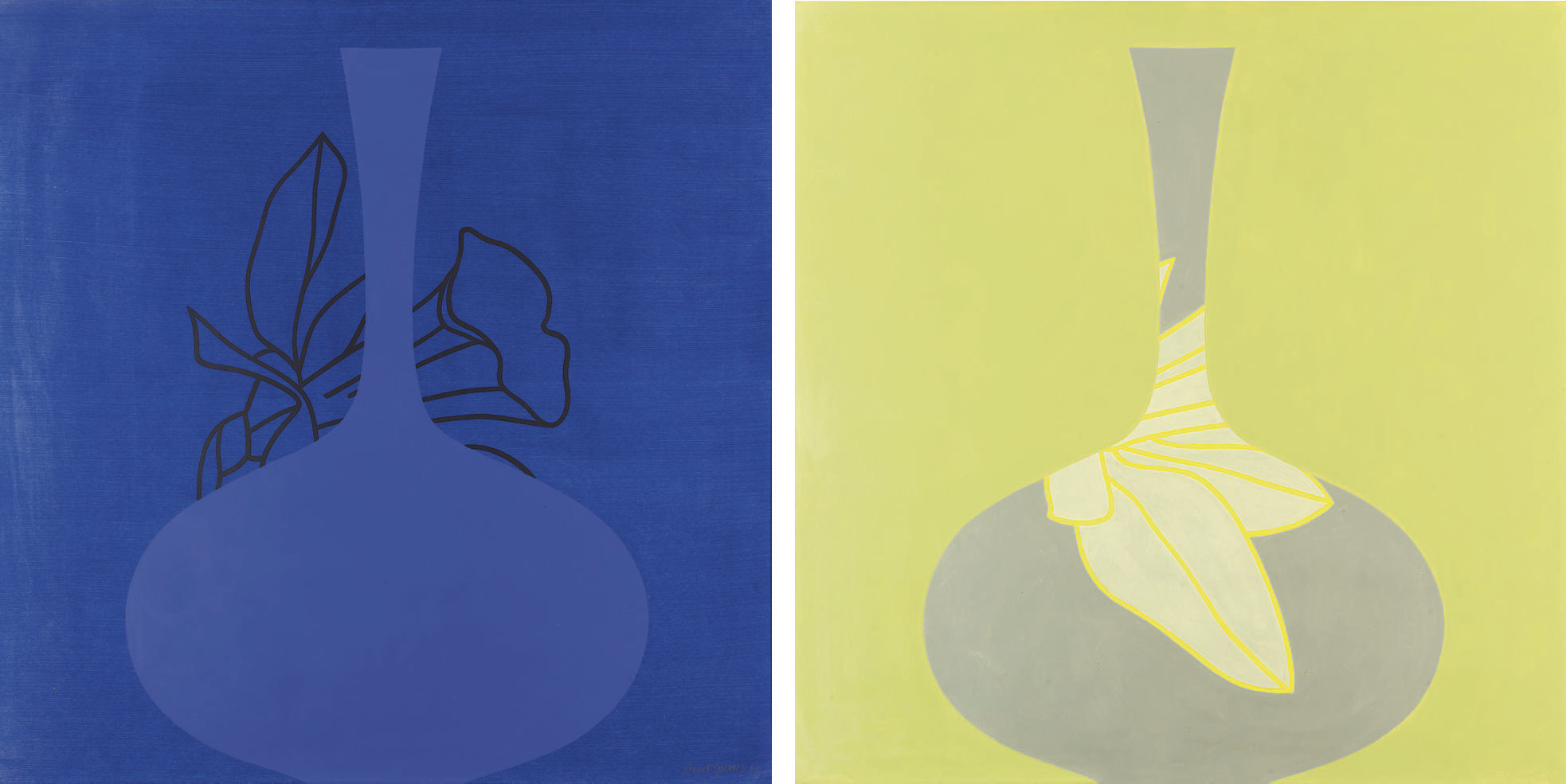 Two Vases (Blue-Yellow)