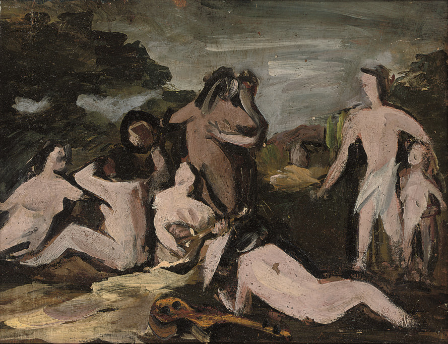 Nudes in a landscape