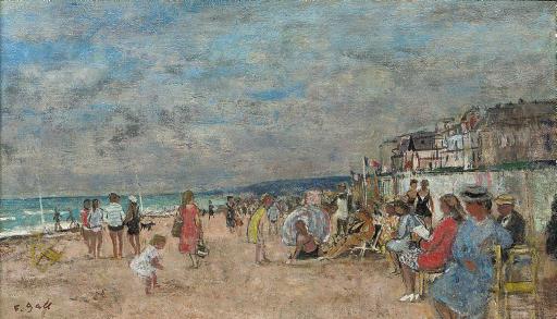 Plage de Cabourg avant l'Orage, Normandie