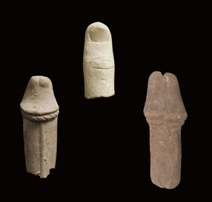 TWO GRAECO-EGYPTIAN TERRACOTTA