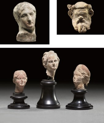 A GROUP OF FIVE GREEK TERRACOT