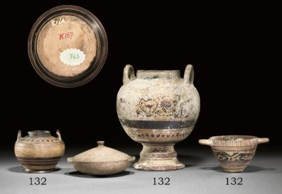 A GROUP OF CORINTHIAN POTTERY