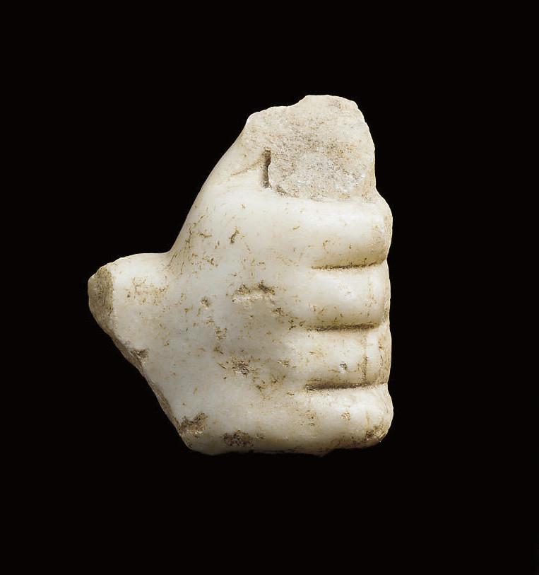 AN EAST ROMAN MARBLE HAND