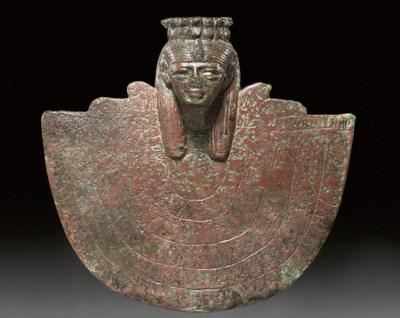 AN EGYPTIAN BRONZE AEGIS