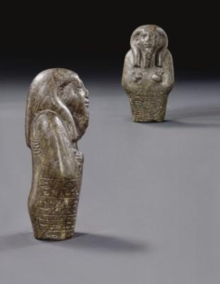 AN EGYPTIAN UPPER PART OF A SE