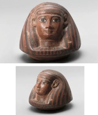 AN EGYPTIAN POLYCHROME TERRACO