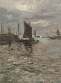 Hoisting sail, St Ives harbour