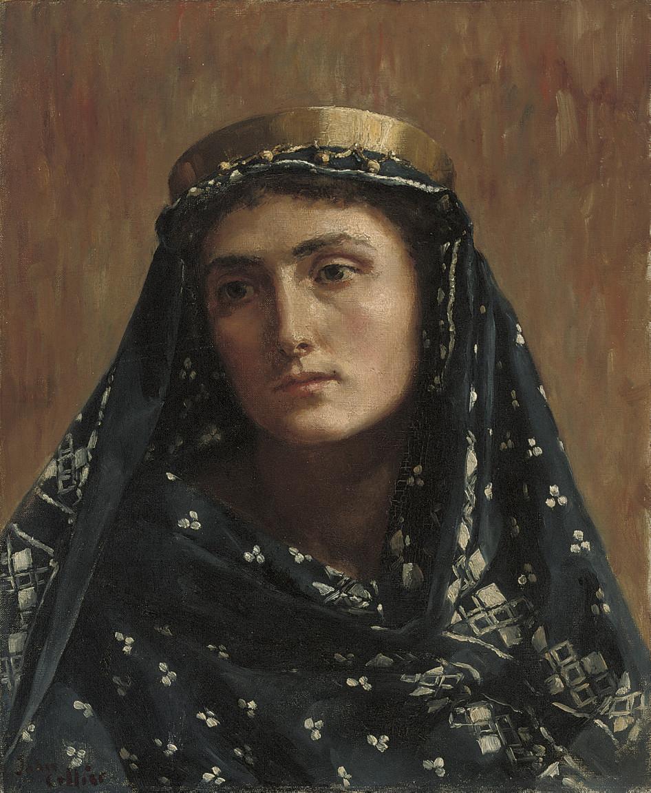 Portrait of a lady in eastern dress