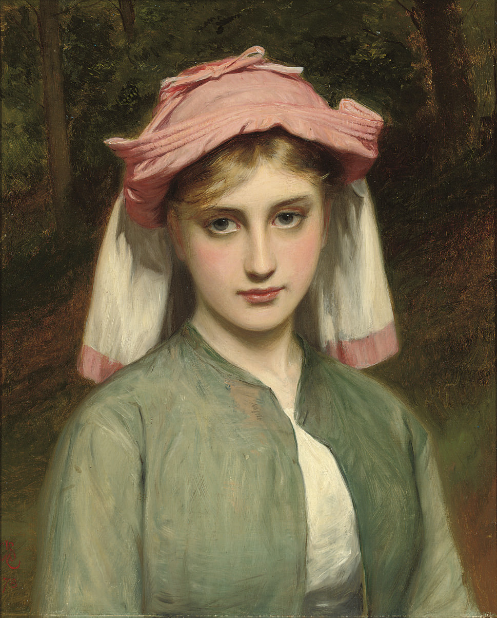 Portrait of a young girl in a forest