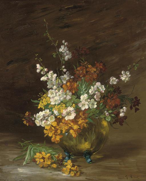 Summer blooms in a jardiniere
