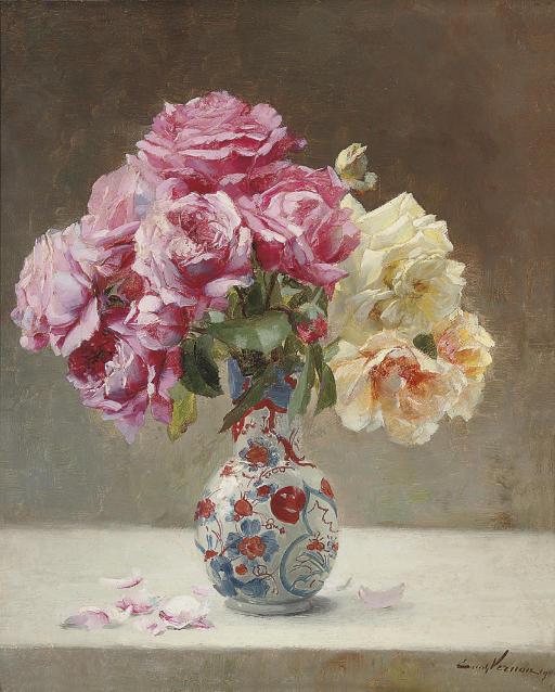 Roses in an Oriental vase