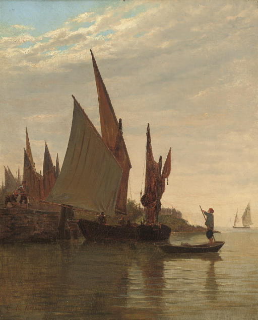 Barges on the Venetian coast