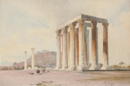 Travellers before the Acropolis