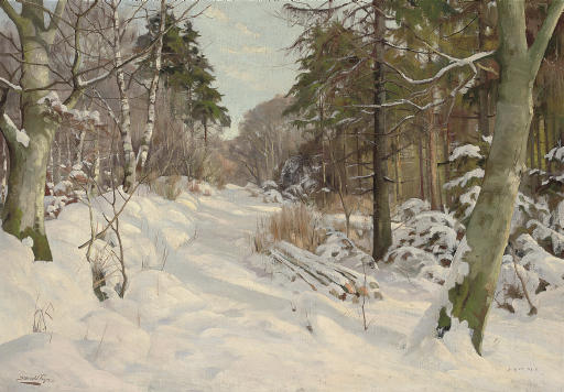 A winter track, Ravnholm