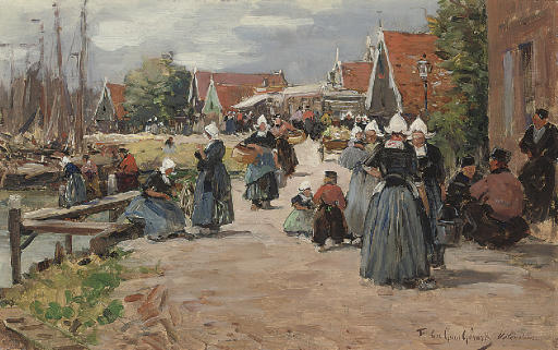 Market day in Volendam, Holland
