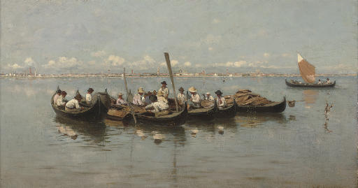 Fishermen on the Venetian lagoon