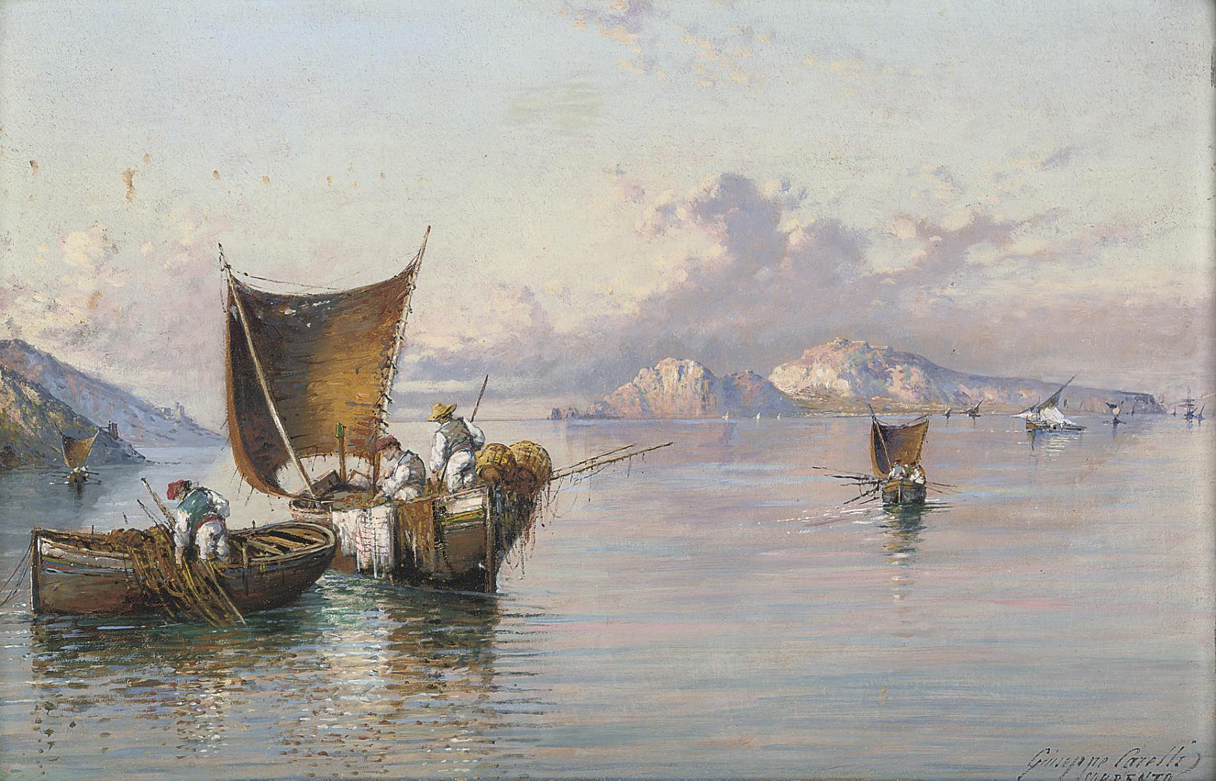 Fishing vessels before Capri