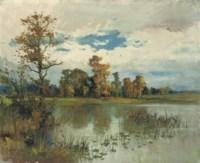 A lake landscape