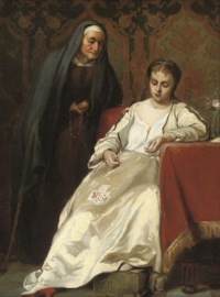 Marina Mnishek before taking the veil